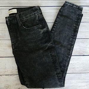 GAP Distressed Washed Black True Skinny Jeans